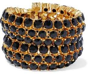 Oscar de la Renta Gold-Tone Crystal Bracelet