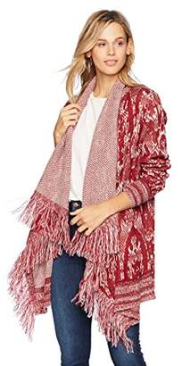 Ella Moon Women's Tressa Waterfall Collar Cardigan