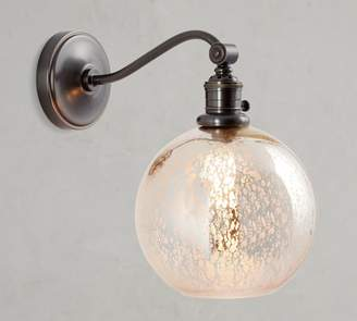 a9cc667a7587 Pottery Barn PB Classic Curved Arm Sconce - Mercury Glass Globe