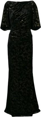 Talbot Runhof long velvet dress