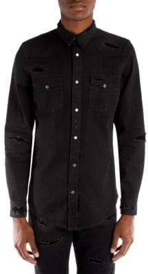 Alexander McQueen Cotton Denim Button-Down Shirt