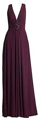 Talbot Runhof Women's Embellished Jersey Gown