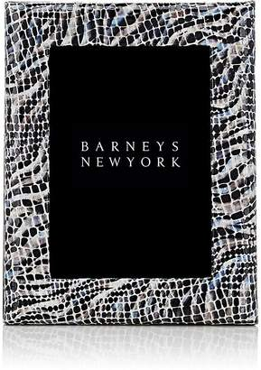 """Barneys New York Studio Mosaic-Embossed Leather 5"""" x 7"""" Picture Frame"""