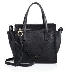 Salvatore Ferragamo Amy Mini Pebbled Leather Tote