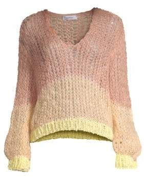 Maiami Stripe Mohair Blend Sweater