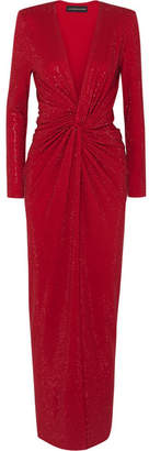 Alexandre Vauthier Twist-front Crystal-embellished Stretch-crepe Gown - Red