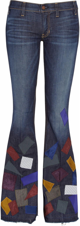 TEXTILE Elizabeth and James Jimi patchwork flared jeans