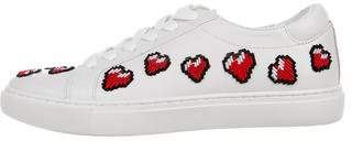 Kenneth Cole Embroidered Low-Top Sneakers