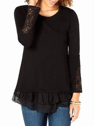 Style&Co. Style & Co. Lace Long-Sleeve Tunic