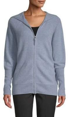 Saks Fifth Avenue Cashmere Zip-Front Hoodie Sweatshirt