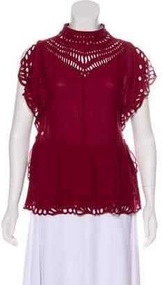 IRO Eyelet Sleeveless Top