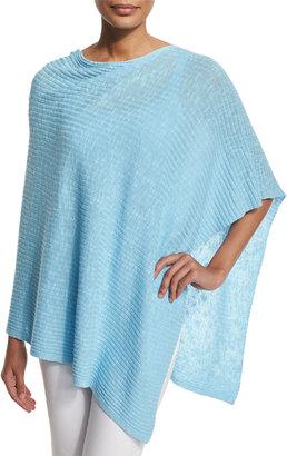 Eileen Fisher Organic Cotton/Linen Slub Ribbed Poncho $48.30 thestylecure.com