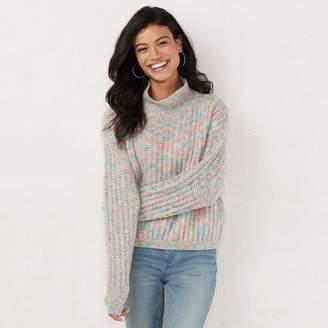 d1a48a7005 Lauren Conrad Women s Textured Funnel-Neck Sweater