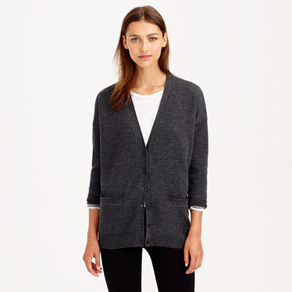 J.Crew Merino wool double-knit long cardigan sweater