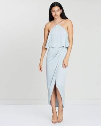 Shona Joy Luxe Halter Frill Cocktail Dress