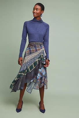 Byron Lars Patchwork Plaid Skirt