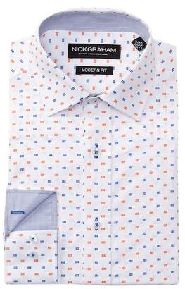 Nick Graham Printed Modern Fit Dress Shirt