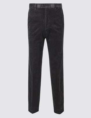 M&S Collection LuxuryMarks and Spencer Tailored Fit Corduroy Trousers with Stretch
