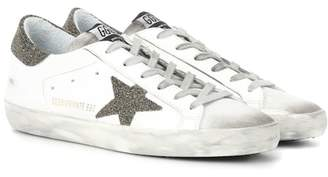 Golden Goose Exclusive to mytheresa.com – Superstar Swarovski embellished leather sneakers