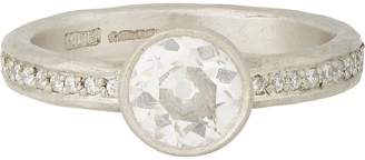 Malcolm Betts Women's Diamond & Hammered Platinum Ring