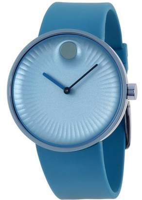 Movado Men's 40mm Blue Silicone Band Steel Case Sapphire Crystal Quartz Analog Watch 3680042