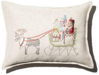 """Coral & Tusk Sleigh Embroidered Pocket Decorative Pillow, 12"""" x 16"""""""