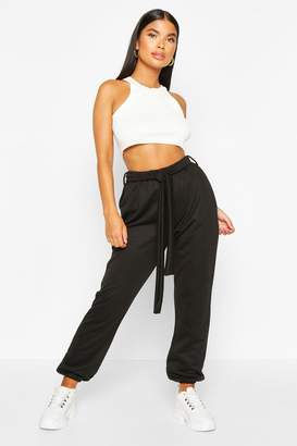 boohoo Petite Belted Joggers
