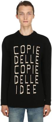 Gucci Idee Cotton Intarsia Knit Sweater
