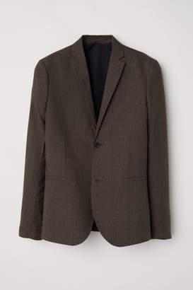 H&M Slim Fit Linen Blazer - Green
