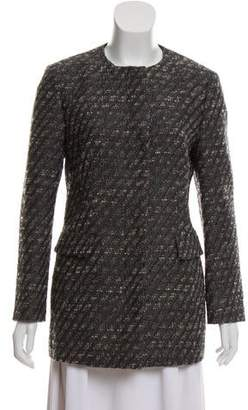 Les Copains Collarless Tweed Jacket