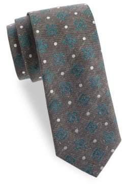 Eton Clover and Dot Silk Tie