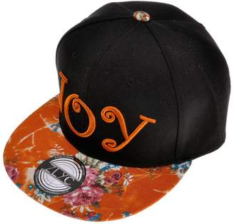 ZLYC Women Fearless Word Embroidered Floral Flat Bill Snapback Hat Adjustable Baseball Cap