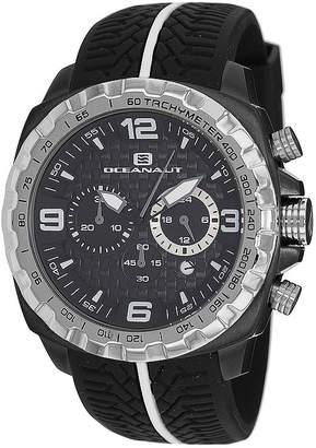 Oceanaut Mens Racer Black Chronograph Strap Watch