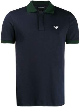 Emporio Armani contrast detail polo shirt