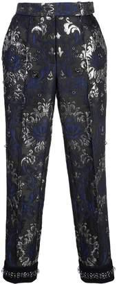 Vera Wang flock print trousers