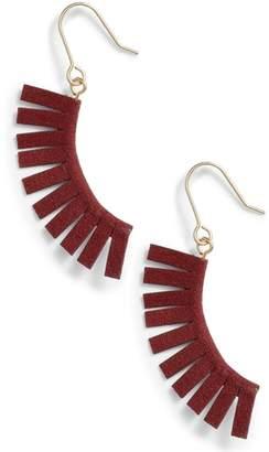 Panacea Suede Fringe Earrings