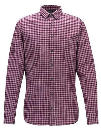 HUGO BOSS Vichy-check cotton shirt in a slim fit