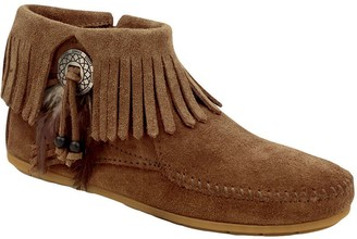 Minnetonka Concho Feather Side Zip Boots