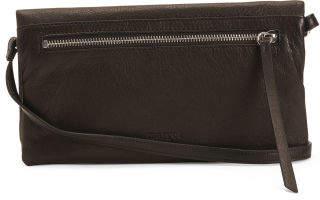 Eileen Foldover Flap Leather Crossbody