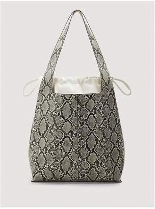 MANGO Snake Print Bucket Bag