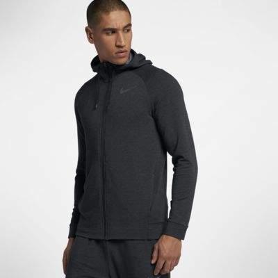 Nike Nike Dri-FIT Men's Full-Zip Training Hoodie Size Small (Black)