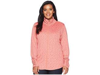 Columbia Plus Size Outerspaced III Full Zip Women's Long Sleeve Pullover