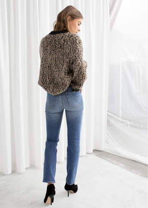 Leopard Knit Sweater