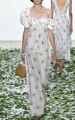 Brock Collection Doda Orchid Silk Cotton Dress