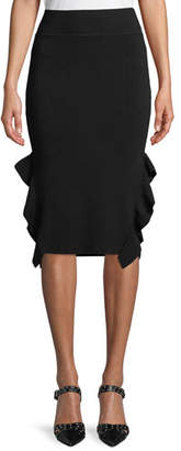 Opening Ceremony Knee-Length Flounce Pencil Skirt