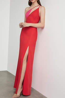 BCBGMAXAZRIA Cut Out Gown with Slit