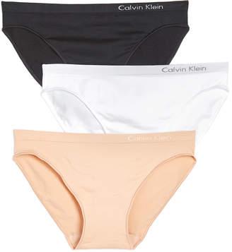 Calvin Klein Underwear Pure Seamless Bikini 3 Pack $33 thestylecure.com