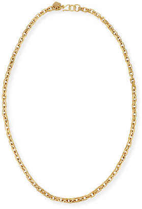 Ashley Pittman Hisia Long Hammered Bronze Link Necklace, 40""
