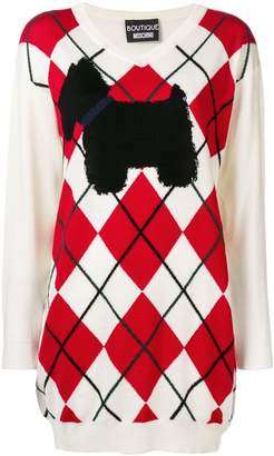 Moschino Scotty dog sweater dress
