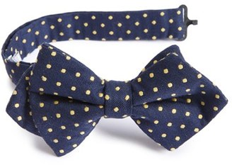 Boy's Nordstrom Dot Cotton & Silk Bow Tie $22.50 thestylecure.com